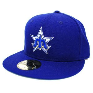 MLB マリナーズ キャップ/帽子 ロイヤル ニューエラ Customized Authentic キャップ Throw Back|mlbshop