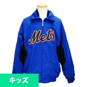 MLB メッツ キッズジャケット ブルー マジェスティック Authentic Youth Triple Peak Premier ジャケット mlbshop