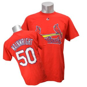 MLB カージナルス アダム・ウェインライト Tシャツ レッド マジェスティック Player Tシャツ|mlbshop