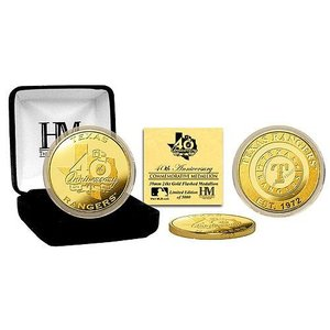 MLB レンジャーズ コイン ハイランドミント Texas Rangers 40th Anniversary Gold Coin mlbshop