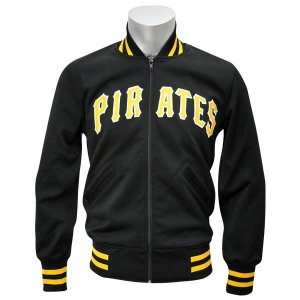 MLB パイレーツ ジャケット ブラック ミッチェル&ネス Authentic BP ジャケット 【1709MLB】|mlbshop