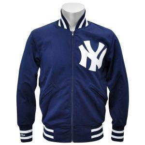 MLB ヤンキース ジャケット ネイビー ミッチェル&ネス Authentic BP ジャケット 【1709MLB】|mlbshop