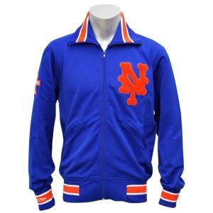 MLB メッツ ジャケット ブルー ミッチェル&ネス Authentic BP ジャケット 【1709MLB】|mlbshop