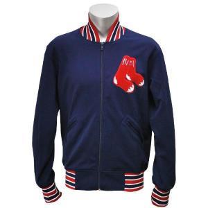 MLB レッドソックス ジャケット ネイビー ミッチェル&ネス Authentic BP ジャケット 【1709MLB】|mlbshop