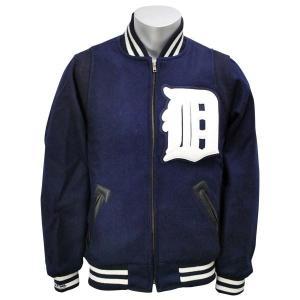 MLB タイガース ジャケット 1948-ネイビー ミッチェル&ネス Wool ジャケット|mlbshop