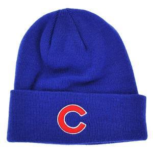 MLB カブス ニットキャップ/帽子 ブルー 47ブランド Raised Cuffed ニットキャップ|mlbshop