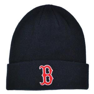 MLB レッドソックス ニットキャップ/帽子 ネイビー 47ブランド Raised Cuffed ニットキャップ|mlbshop