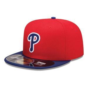 MLB フィリーズ キャップ/帽子 ゲーム ニューエラ Authentic Diamond Era 59FIFTY BP キャップ 20131607MLB 【1709CAP】|mlbshop
