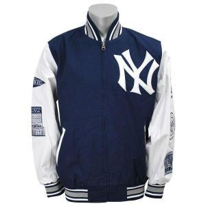 MLB ヤンキース ジャケット ネイビー/ホワイト ジースリー/G-III Final Out Commemorative Full Zip ジャケット|mlbshop