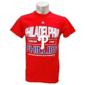 MLB フィリーズ Tシャツ マジェスティック AUTHENTIC EXPERIENCE Tシャツ|mlbshop