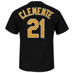 MLB パイレーツ ロベルト・クレメンテ Tシャツ ブラック マジェスティック Cooperstown Player Name & Number Tシャツ 2013 mlbshop