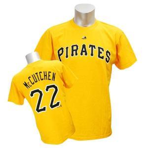 MLB パイレーツ アンドルー・マカチェン Tシャツ イエロー マジェスティック Player Tシャツ mlbshop