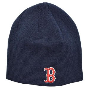 MLB レッドソックス ニットキャップ/帽子 ネイビー 47ブランド Raised Beanie ニットキャップ|mlbshop