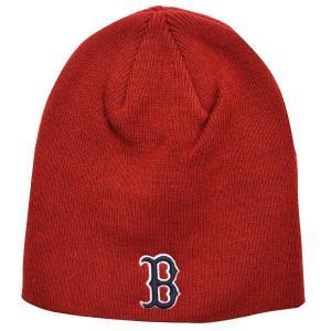 MLB レッドソックス ニットキャップ/帽子 レッド 47ブランド Raised Beanie ニットキャップ|mlbshop