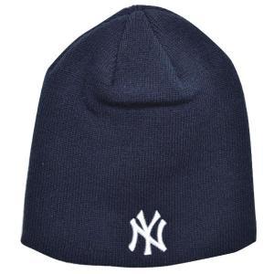 MLB ヤンキース ニットキャップ/帽子 ネイビー 47ブランド Raised Beanie ニットキャップ|mlbshop