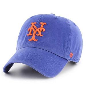 MLB メッツ キャップ/帽子 ロイヤル 47ブランド Cleanup Adjustable キャップ|mlbshop