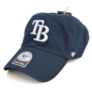 MLB レイズ キャップ/帽子 ネイビー 47ブランド Cleanup Adjustable キャップ|mlbshop