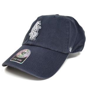 MLB カブス キャップ/帽子 ネイビー 47ブランド Cooperstown Clean Up Adjustable キャップ|mlbshop