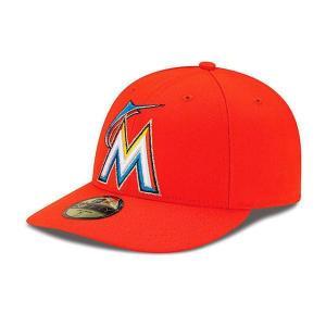 MLB マーリンズ キャップ/帽子 オルタネート ニューエラ Authentic Low Crown On-Field 59FIFTY キャップ|mlbshop