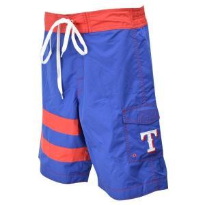 MLB レンジャーズ ショーツ ブルー ジースリー/G-III Come Back Swim Trunks mlbshop