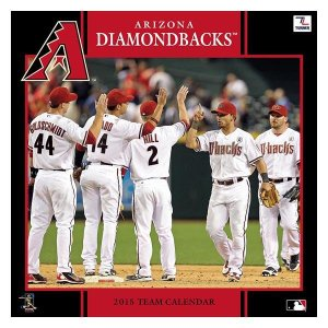 MLB ダイヤモンドバックス カレンダー JFターナー/JF Turner MLB 2015 12×12 TEAM WALL カレンダー|mlbshop