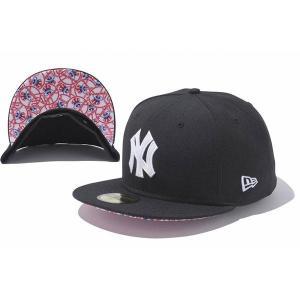 MLB ヤンキース キャップ/帽子 ブラック ニューエラ 5950 Glossy キャップ|mlbshop