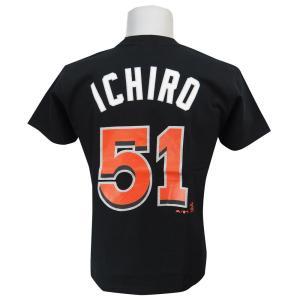 MLB マーリンズ イチロー プレーヤー Tシャツ (日本サイズ) マジェスティック/Majestic|mlbshop