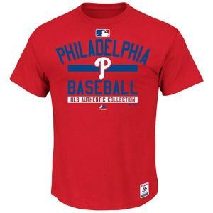MLB フィリーズ Tシャツ レッド マジェスティック 2015 Authentic Team Property Tシャツ|mlbshop