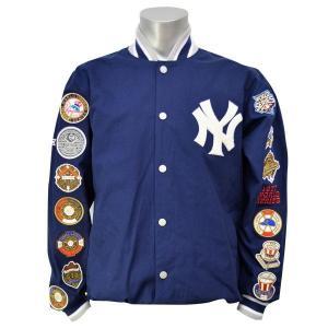 MLB ヤンキース ジャケット ネイビー ジースリー/G-III SET-UP MAN|mlbshop