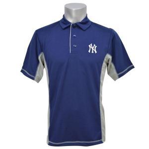 MLB ヤンキース ポロシャツ ネイビー マジェスティック Top Of The Inning Polo|mlbshop