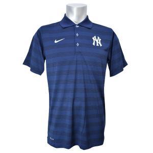 MLB ヤンキース ポロシャツ ネイビー ナイキ DRI-FIT POLO 1.5|mlbshop