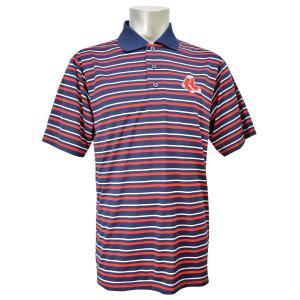 MLB レッドソックス ポロシャツ ネイビー/レッド マジェスティック HOME PLATE HEAT|mlbshop