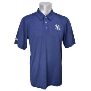 MLB ヤンキース ポロシャツ ネイビー マジェスティック Changeup Swing Polo|mlbshop