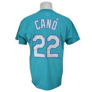 MLB マリナーズ ロビンソン・カノ Tシャツ アクア マジェスティック Player Tシャツ|mlbshop
