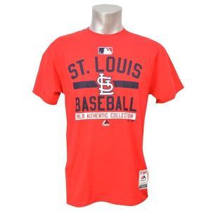 MLB カージナルス Tシャツ レッド マジェスティック 2015 Authentic Team Property Tシャツ|mlbshop