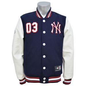 お取り寄せ MLB ヤンキース ジャケット Letterman ジャケット Majestic|mlbshop