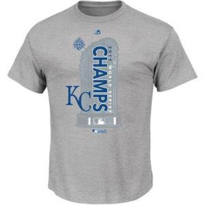 【決算セール】MLB ロイヤルズ Tシャツ 2015 World Series Champions Locker Room S/S Tシャツ Majestic|mlbshop