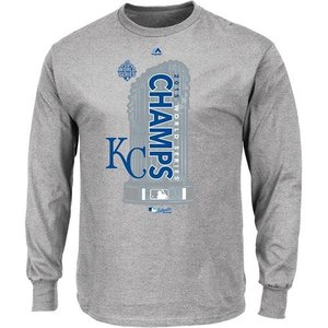 MLB ロイヤルズ ロングスリーブTシャツ 2015 World Series Champions Locker Room L/S Tシャツ Majestic|mlbshop
