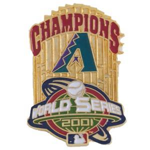 MLB ダイヤモンドバックス 2001 ワールドシリーズ チャンピオンズ トロフィー ピンバッジ ピーエスジー/PSG レアモデル|mlbshop