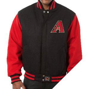 お取り寄せ MLB ダイヤモンドバックス ツートン ウール ジャケット JH Design ブラック|mlbshop