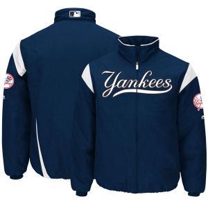 MLB ヤンキース オーセンティック オンフィールド プレミア ジャケット マジェスティック/Majestic Navy/White|mlbshop