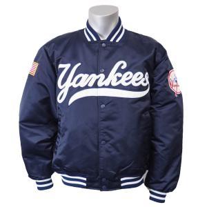 MLB ヤンキース トラディショナル サテンジャケット ジースリー/G-III ネイビー|mlbshop