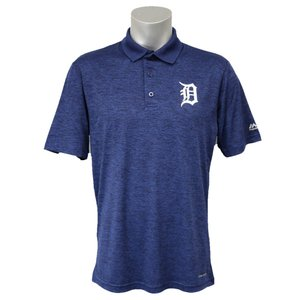 MLB タイガース ヒット ファースト ポロシャツ マジェスティック/Majestic ネイビー|mlbshop