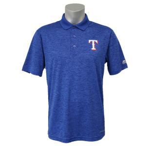 MLB レンジャーズ ヒット ファースト ポロシャツ マジェスティック/Majestic ブルー|mlbshop