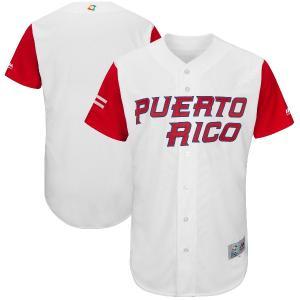 WBC プエルトリコ 2017 ワールドベースボールクラシック オーセンティック ユニフォーム マジェスティック/Majestic ホワイト|mlbshop