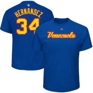 WBC ベネズエラ フェリックス・ヘルナンデス 2017 ワールドベースボールクラシック ネーム & ナンバー Tシャツ マジェスティック/Majestic ロイヤル|mlbshop