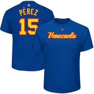お取り寄せ WBC ベネズエラ サルバドール・ペレス 2017 ワールドベースボールクラシック ネーム & ナンバー Tシャツ マジェスティック/Majestic ロイヤル|mlbshop