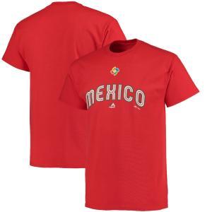 WBC メキシコ 2017 ワールドベースボールクラシック ワードマーク Tシャツ マジェスティック/Majestic レッド|mlbshop