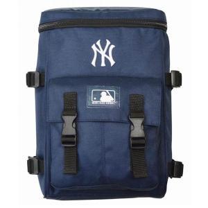 MLB ヤンキース 600D キッズ スクウェアリュック イーカム/E-come ネイビー|mlbshop