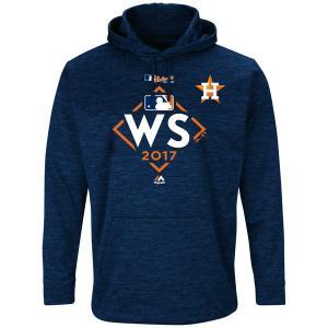 ご予約 MLB アストロズ 2017 ワールドシリーズ進出記念 ストリーク フリース パーカー マジェスティック/Majestic ネイビー|mlbshop